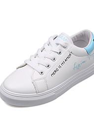 abordables -Femme Chaussures Polyuréthane Hiver Automne Confort Basket Bout rond pour Décontracté Blanc Blanc et Rouge Blanc/Bleu