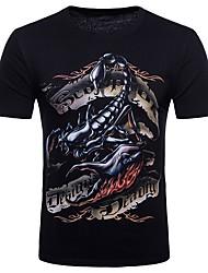 economico -T-shirt Per uomo Serata Punk & Gotico Moda città Rotonda-Cotone