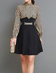 cheap -Women's Basic Sophisticated Boho Slim Sheath Dress - Striped