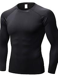 abordables -Homme Tee-shirt de Course Manches Longues Respirabilité Tee-shirt pour Exercice & Fitness Polyester Bleu / Gris / Bourgogne L / XL / XXL