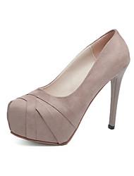 Недорогие -Жен. Обувь Материал на заказ клиента Весна / Осень Оригинальная обувь Обувь на каблуках Закрытый мыс Черный / Светло-Розовый