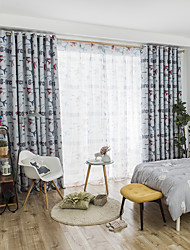 cheap -Blackout Curtains Drapes Bedroom Graphic Prints Polyester Blend Printed