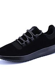 baratos -Homens sapatos Tule Outono / Inverno Conforto Tênis Caminhada Preto / Bege / Cinzento