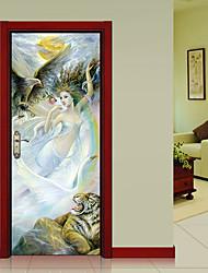 Недорогие -Принцесса Феи Наклейки 3D наклейки Люди стены стикеры Наклейки для животных Декоративные наклейки на стены Дверные наклейки, Винил Бумага