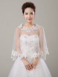 cheap -Sleeveless Tulle Wedding Party / Evening Women's Wrap With Lace Capes