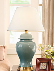 cheap -Traditional / Classic Decorative Table Lamp For Ceramic 220-240V Blue Yellow