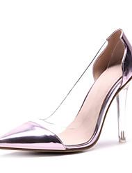 preiswerte -Damen Schuhe Paillette Lackleder Frühling Sommer Pumps High Heels Kristallabsatz Spitze Zehe für Büro & Karriere Party & Festivität Gold