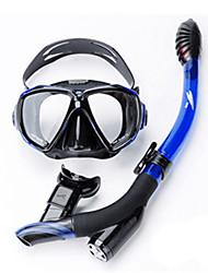 Недорогие -TUO Наборы для снорклинга / Дайвинг Пакеты - Маска для ныряния, шноркель - Противотуманный, Взрывозащищенный, Сухая трубка Плавание,