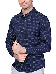 preiswerte -Herrn Punkt Übergrössen Baumwolle Hemd