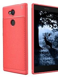 Недорогие -Кейс для Назначение Sony Xperia XZ1 Xperia L2 Защита от удара Матовое Кейс на заднюю панель Сплошной цвет Мягкий ТПУ для Xperia XA2