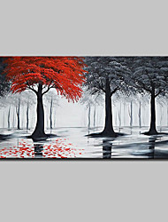 cheap -Oil Painting Hand Painted - Landscape Pop Art Modern Canvas