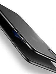 Недорогие -Кейс для Назначение Apple iPhone X Защита от удара Ультратонкий Кейс на заднюю панель Сплошной цвет Твердый ПК для iPhone X