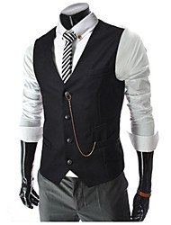 cheap -Men's Business Casual Vest-Solid Colored / Sleeveless / Work