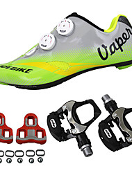 cheap -SIDEBIKE Bike Cycling Shoes With Pedals & Cleats Road Shoes Adults' Cushioning Road Bike Outdoor Breathable Mesh PU Cycling / Bike