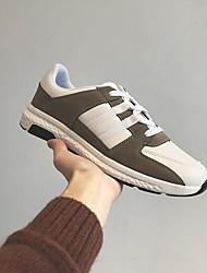 billige -Herre Syntetisk læder Forår / Efterår Komfort Sneakers Sort / Mandel / Hvid / Blå
