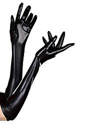 Недорогие -Перчатки Кожаный костюм Ниндзя Костюмы зентай Косплэй костюмы Черный Однотонный Перчатки Спандекс клей Муж. Жен. Хэллоуин Маскарад