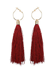 cheap -Women's Tassel Drop Earrings - Tassel, Ethnic Light Pink / Dark Green / Dark Navy For Prom / Going out