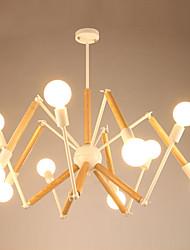 cheap -LightMyself™ 10-Light Chandelier Ambient Light - Black & White, 110-120V / 220-240V, Warm White / White, Bulb Included / 30-40㎡