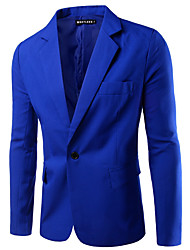 cheap -Men's Business Casual Slim Blazer-Solid Colored,Basic Notch Lapel