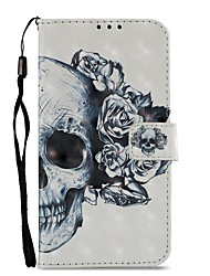 cheap -Case For Motorola MOTO Z2 play Card Holder Wallet with Stand Flip Magnetic Full Body Cases Skull Hard PU Leather for Moto Z2 play Moto