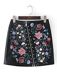 baratos -Mulheres Vintage Evasê Saias - Floral