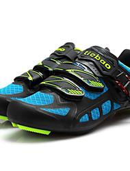 cheap -Tiebao® Road Bike Shoes Carbon Fiber Anti-Slip, Wearable, Breathability Cycling Black / Blue Men's