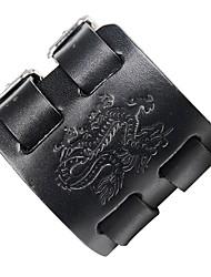 abordables -Homme Cuir Cool Steampunk Dragon 1pc Bracelets en cuir - Steampunk Pierre Noir Marron Bracelet Pour Soirée Plein Air