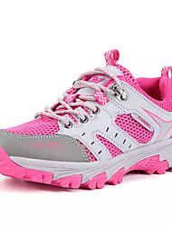 Mulheres Sapatos Tule Verão Conforto Tênis Caminhada Sem Salto Ponta Redonda para Ao ar livre Pêssego Azul Claro
