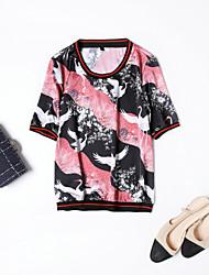 economico -T-shirt Per donna Moda città Con stampe,Animali