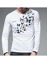 cheap -Men's T-shirt - Animal Round Neck