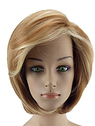 cheap -Synthetic Wig Straight Blonde With Bangs Synthetic Hair Color Gradient Blonde Wig Women's Short Capless