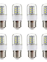 abordables -BRELONG® 8pcs 3W 270lm E14 E26 / E27 Ampoules Maïs LED 24 Perles LED SMD 5730 Blanc Chaud Blanc 220-240V