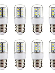 Недорогие -BRELONG® 8шт 3W 270lm E14 E26 / E27 LED лампы типа Корн 24 Светодиодные бусины SMD 5730 Тёплый белый Белый 220-240V