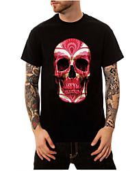 Herre - Dødningehoveder, Basale Trykt mønster T-shirt
