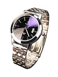 cheap -Men's / Women's Casual Watch Japanese Calendar / date / day Alloy Band Fashion Silver