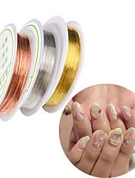 Недорогие -5 pcs Стразы для ногтей Инструменты для наращивания ногтей Регулируется маникюр Маникюр педикюр Повседневные металлический / Украшения для ногтей