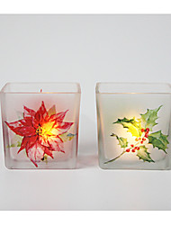 cheap -Simple Style / Modern / Contemporary Glass Candle Holders 2pcs, Candle / Candle Holder