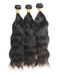 baratos -3 pacotes Cabelo Mongol Ondulado Natural Cabelo Remy Cabelo Humano Ondulado Tramas de cabelo humano Extensões de cabelo humano