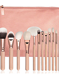 cheap -15 Contour Brush Foundation Brush Powder Brush Fan Brush Concealer Brush Eyeliner Brush Brow Brush Eyeshadow Brush Blush Brush Makeup