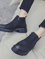 Недорогие -Муж. обувь Искусственное волокно Зима Осень Армейские ботинки Удобная обувь Ботинки Ботинки для Повседневные Черный