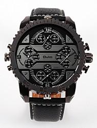 Недорогие -Oulm Муж. Для пары Модные часы Повседневные часы Японский Кварцевый Повседневные часы Кожа Группа Роскошь Мода Черный Коричневый