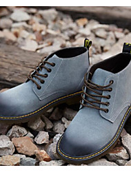 cheap -Men's Nubuck leather Spring / Fall Comfort / Combat Boots Boots Booties / Ankle Boots Black / Orange / Light Blue
