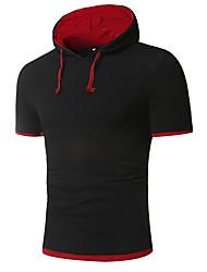 abordables -Tee-shirt Grandes Tailles Homme, Fleur Géométrique Chinoiserie Capuche