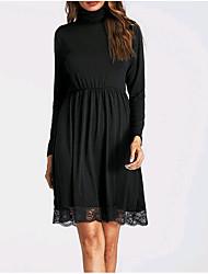 cheap -Women's Little Black Dress - Solid, Lace