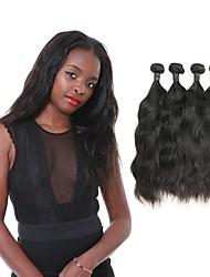 baratos -4 pacotes Cabelo Brasileiro Ondulado Natural Cabelo Remy Cabelo Humano Ondulado 12-30 polegada Tramas de cabelo humano Extensões de cabelo humano