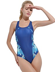 cheap -Women's One Piece Swimsuit Chlorine resistance, Comfortable, Sports Nylon / Spandex Sleeveless Swimwear Beach Wear Bodysuit Reactive Print Swimming