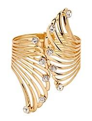 preiswerte -Damen Synthetischer Diamant Armreife - Klassisch Modisch Irregulär Gold Armbänder Für Alltag Zeremonie