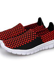 baratos -Homens sapatos Tecido Primavera Outono Conforto Mocassins e Slip-Ons para Casual Laranja Cinzento Escuro Preto/Vermelho