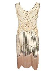 cheap -The Great Gatsby Vintage The Great Gatsby Costume Women's Flapper Headband Black Golden Silver Vintage Cosplay Polyester Sleeveless