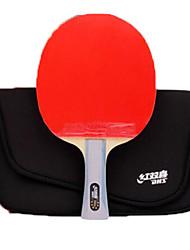 abordables -DHS® R6002 R6003 FL Ping Pang/Tennis de table Raquettes Bois Caoutchouc 6 étoiles Long Manche Boutons